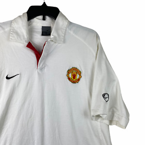 Manchester United Jersey Training XL Polo Nike Football Soccer White