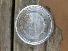 Antique Glass Mason Jar Lid - Crown Made in Canada