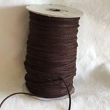 5m di 3mm In Finta Pelle Scamosciata Corda String Tanga in Marrone Scuro #1021