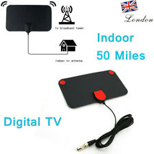 50 Mile Indoor Digital Aerial HDTV Antenna Signal Amplifier Booster UHF VHF