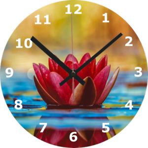 WALL CLOCK SPIRITUAL Meditation Flower Calm Relaxing Lotus Home Decor 1009