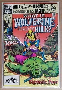 MARVEL _ WHAT IF ? _ # 31 _ VFN _ 1982 _ CENTS COPY _ WOLVERINE KILLED HULK ? _