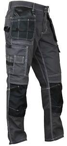 Mens Construction Cordura Knee Reinforcement WorkWear Trousers Utility Work Pant