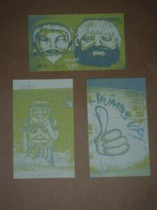David Choe Thumbs Up signed mini art print set