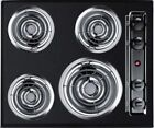 Summit TEL03 24 Coil Electric Cooktop With 4 Coil Elements In Black  photo