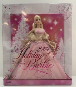 2008 Mattel N6556 2009 Holiday Barbie 50th Anniversary Edition Pink Glitter NRFB