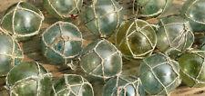 "Japanese Glass Fishing FLOATS 2"" LOT-36 Varied Colors Nets Sea Debris Glaze Vntg"