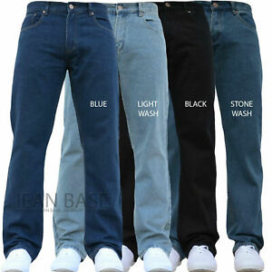 New Mens Plain Work Basic Jeans Pants Trousers Sale Forge by Kam Big King Plus