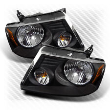 For 04-08 F150/LOBO, 06-08 Mark LT Black Headlights Assembly Replacement LH+RH