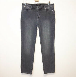 Talbots Womens Size 10 Gray Slim Ankle Jeans