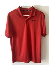 Nike Golf Dri Fit Short Sleeve Polo Shirt Red Size Small S Mens Clothing