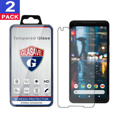 """(2 Pack) GLASAVE Tempered Glass Screen Protector Saver For """"Google Pixel 2 XL"""""""