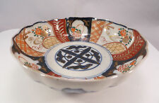 Antique Japanese Arita Imari Porcelain Bowl Flower Ceramic Japan