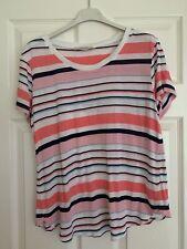 Oasis Size M 12-14 Stripey Striped Top