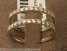 NEW 1/2ct Prongs Set Solitaire Enhancer Diamonds Ring Guard Wrap 10k Yellow Gold