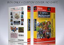 SUPER MARIO KART. JAPAN. Box/Case. Super Nintendo. BOX + COVER. (NO GAME).