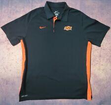 Nike Dri Fit Golf Polo Shirt OSU Oklahoma State University Size Large