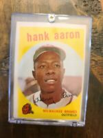1959 Topps HANK AARON Baseball Card #380