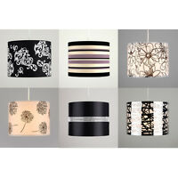 Cotton Fabric Diamante Floral Striped Ceiling Light Table Lamp Shade Lampshades