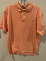 Southern Marsh Men's M Polo Shirt Peach orange Short Sleeve Cotton Stretch