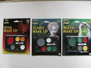 Halloween Make Up Kits Faces Paints Sets Witch Zombie Devil Party Pack Body Face