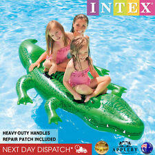 Giant 2M Inflatable Crocodile Ride On Swimming Pool Toys 3 Seat Water Raft Float