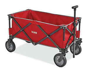 New in box - ULINE Utility Wagon - Red