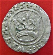 Silver medieval Coin 1/2 Groschen 1626. Sigismund III (1587-1632.)