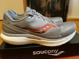 Saucony Triumph 18 Mens Grey Runners Size 12