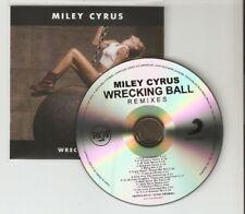 "MYLEY CYRUS ""WRECKING BALL"" 15 REMIX RARE BRAZILIAN CD PROMO"
