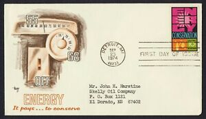 #1547 10c Energy Conservation, Marq FDC **ANY 4=FREE SHIPPING**