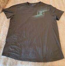 Under Armour 2X Gray  T Shirt Heat Gear 2XL