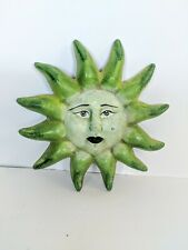 Garden Fence Sunshine Small Hanging Plaque Smiling Green Goddess Mother Nature