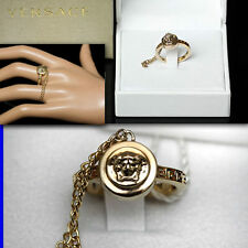 GIANNI VERSACE Ladies GOLD MEDUSA RING w/ Box & Tag (8 1/2)