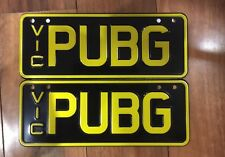 Playerunknown's Battlegrounds customised number plates PUBG car plates