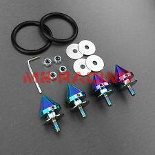 JDM Spike Quick Release Fasteners For Car Bumpers Trunk Fender Hatch Lids Kit