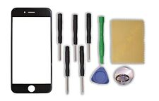 "Black Front Outer Screen Glass Lens Replacement Parts for Apple 4.7"" iPhone 6"