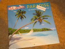 NEW 2018 Calendar Island Paradise Vacation Mini Wall 7 x 7 inch 16 Month