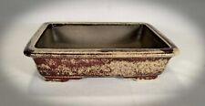 Bonsai Schale Mameschale rot / beige gesprenkelt 16x12x4 Ficus Ahorn Kiefer 2269
