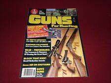 1986 Guns for Hunting Annual Magazine~Shotguns, Handguns, Rifles, Remington