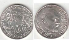 Monnaie 100 francs argent Emile Zola 1985