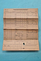 Los Angeles Railway - Conductor or Operator's Trip Sheet - Circa 1940s
