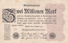 * Ro. 103a - 2 millones de Mark-Deutsches Reich - 1923-Fz: así *