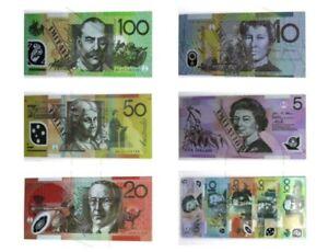 Souvenir Note Pad Kids Toy Fake Notepad Play Australian Dollar Money 50 Sheets