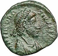 THEODOSIUS I 388AD Ancient Roman Coin Military Camp Gate  i25274
