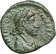 THEODOSIUS I 388AD Ancient Roman Coin Military Camp Gate  i25274
