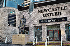 Newcastle United. Statue of Sir Bobby Robson