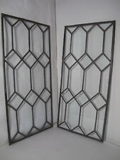 Vintage Stained Glass Panels clear glass