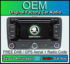 SKODA Amundsen GPS STEREO DAB+ Bluetooth, SKODA YETI Navigation DAB Radio