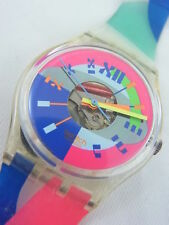 GK153 Swatch 1993 Beach Volley Fluorescent Swiss Made Authentic New